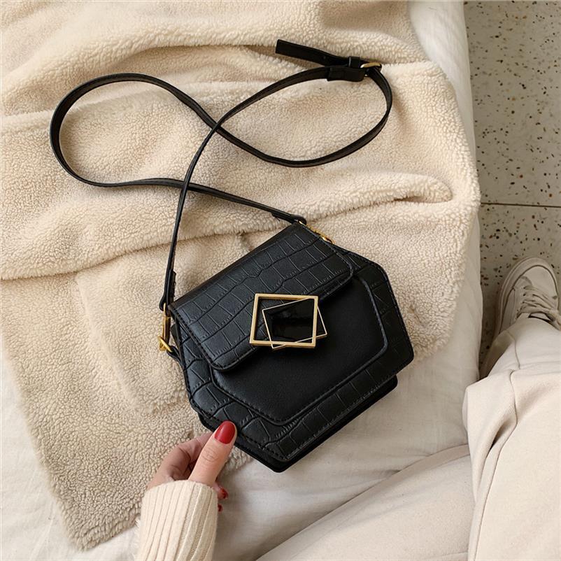 Pietra spalla del modello Phone Bag Messenger 2019 inverno delle nuove donne del sacchetto di modo casuale Piccolo sacchetto mobile