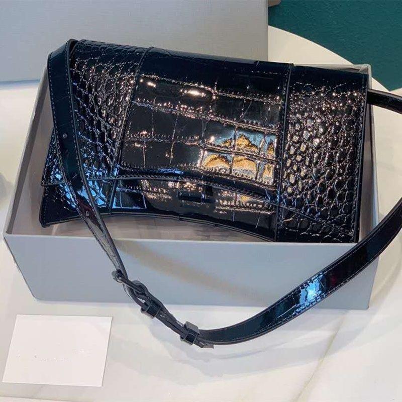 Высококачественные сумки подлинный 2020 Hot Quality Damies Dament Pattern Crossbody буква сумки высокой кожи женские песочные часы сумка крокодил CCLT
