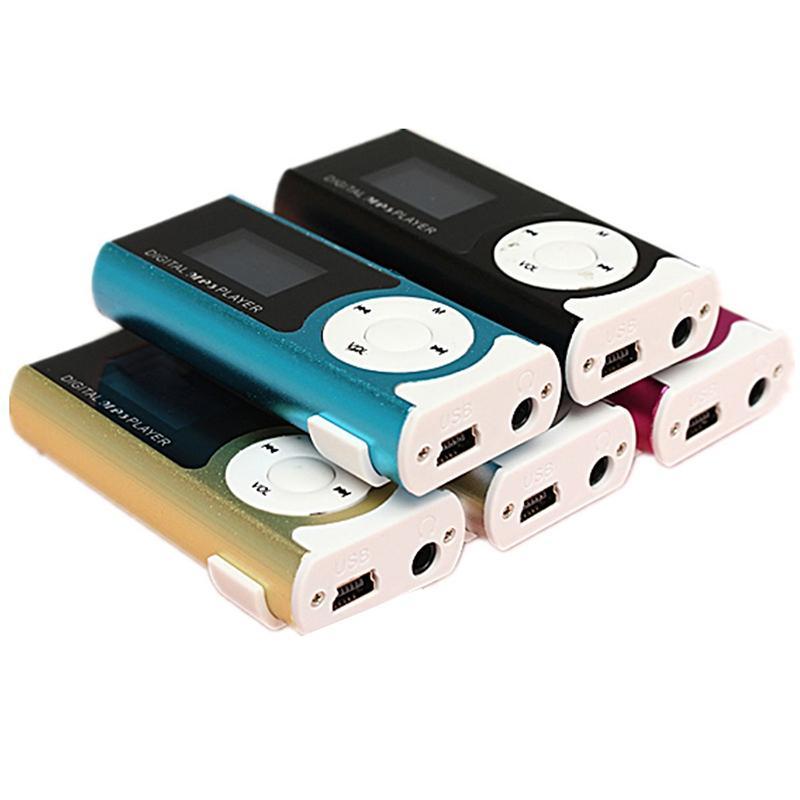 MINI USB clip player MP3 player LCD sn 16GB mini SD TF card