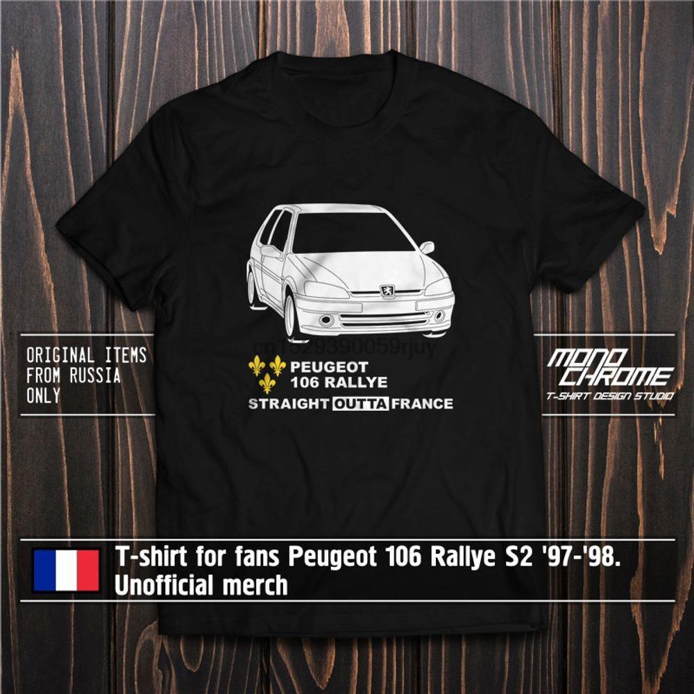 T-Shirt für Fans Peugeot 106 Rallye S2 97 98. Inoffizieller Merch