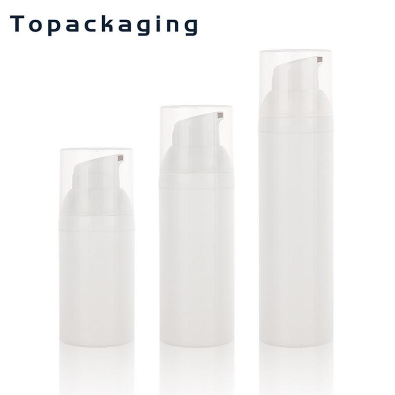 30pcs 30ml 50ml 75ml bottiglia senz'aria della pompa riutilizzabile della plastica senz'aria Vacuum Pump Bottiglia di trasportare facilmente per la corsa Toner Crema