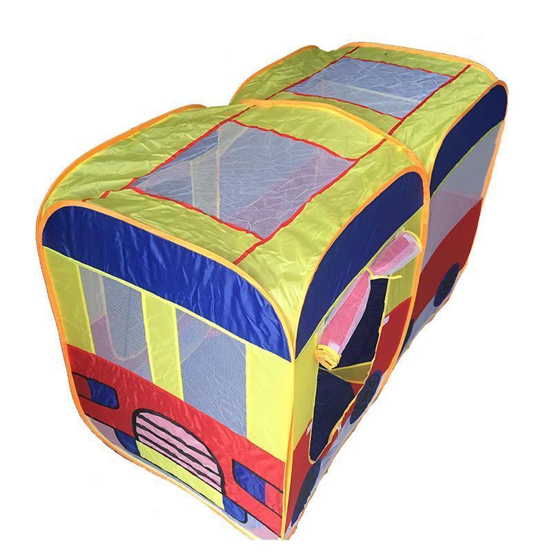 Children S Foldable Tents Toy Child Bus Car Cartoon Car Game Houses Large Anti -Mosquito Baby Toys Ocean Ball Pool Cloth