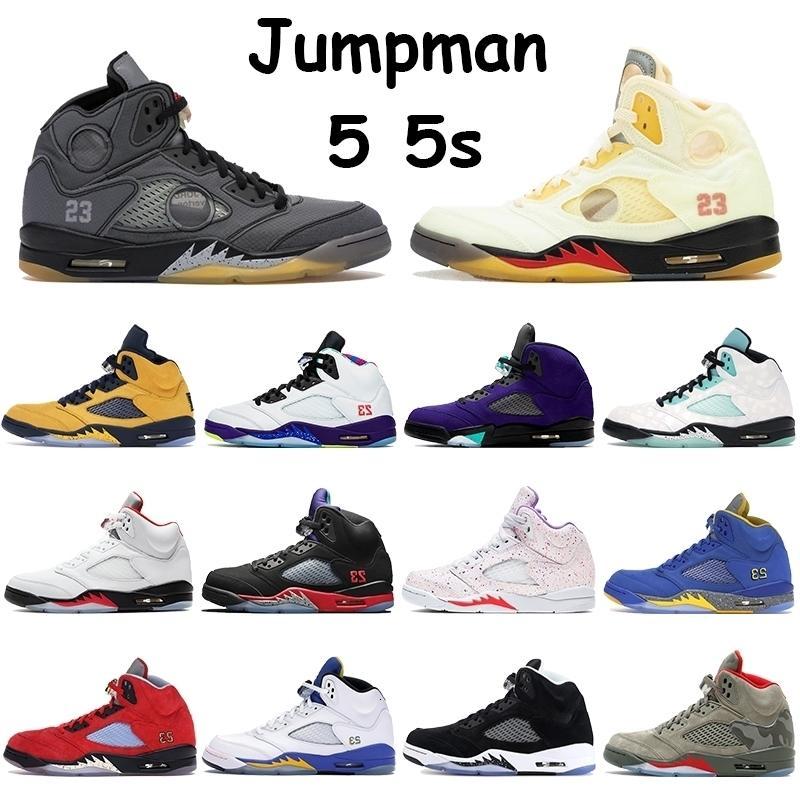 Baloncesto Negro Hombres Zapatos Jumpman Vela 5 5s muselina alternativo Bel uva Top 3 Pascua Michigan Isla Verde Laney metálicos para hombre Formadores