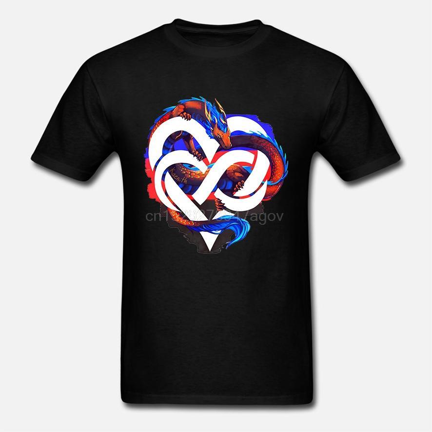 Cotone O-Collo stampa personalizzata maglietta uomini della maglietta 100% degli Amori Orgoglio Dragon - Orgoglio T-shirt poligamo