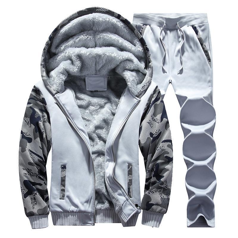 Zipper Sweatshirt Men Tracksuit 2 Piece Tops and Pants Mens Sweat Suits Set Patchwork Plus Size Jogger Sets for Men Clothing