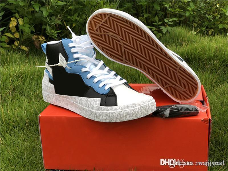 2020 Горячие Blazer Mid университет Голубой парус Varsity Красный Кукурузный Полночь Синий Белый Черный Серый Волк Баскетбол обувь мужчин кроссовки с коробкой