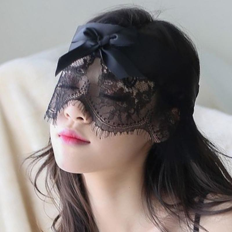 Erotische Babydoll Porn Sexy Hohle Lace Mask für Sex mit verbundenen Augen-Flecken Kostüme Accessoires Hot Cosplay Partei-Schablonen