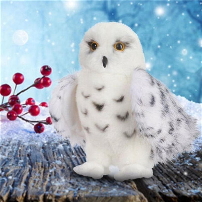"""US SNOWY OWL Plush Toy 8"""" 10"""" 12"""" Tall Stuffed Animal Hedwig Owl Hot!"""