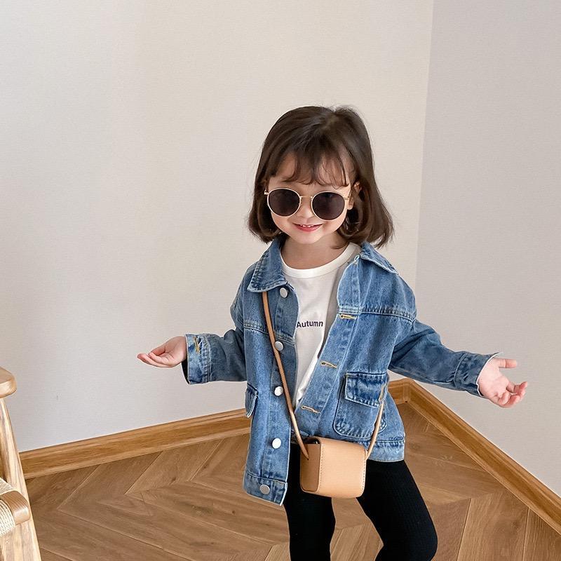 Yeni Ins Kalite Yeni Erkek ve Kız Uzun Kollu Rahat Kot Ceket Toddler Moda Kovboy Klasik Pamuk Denim Ceket Top Çocuk Giyim
