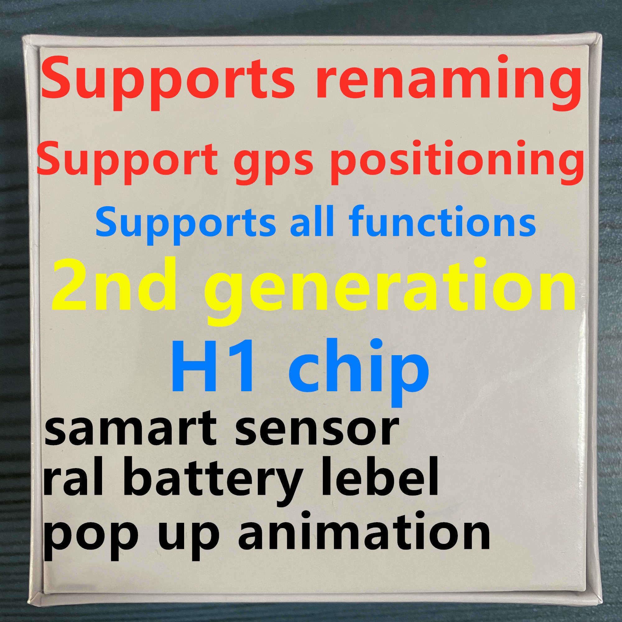 이 개 포드의 경우 이어폰 새로운 충전 창 블루투스 헤드폰 자동 페어링의 wireles 팝업 H1 이어폰 칩 GPS를 이름 바꾸기 에어 AP3가 AP2 TWS 세대 프로