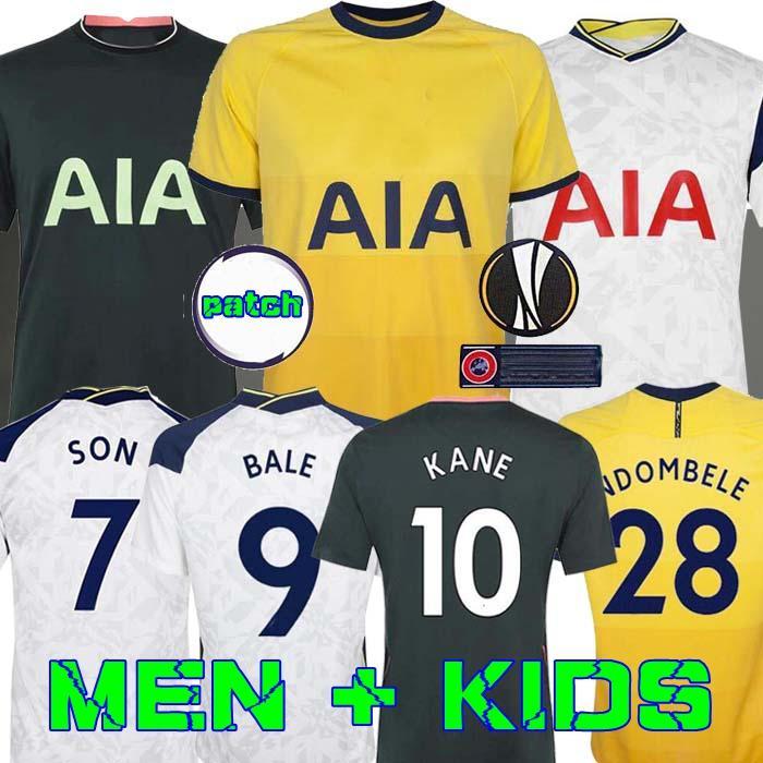 الرجال + KIDS KIT 20 21 KANE SON BERGWIJN NDOMBELE لكرة القدم الفانيلة 2020 2021 LUCAS DELE TOTTENHAM جيرسي لكرة القدم قميص عدة LO CELSO منزل BALE