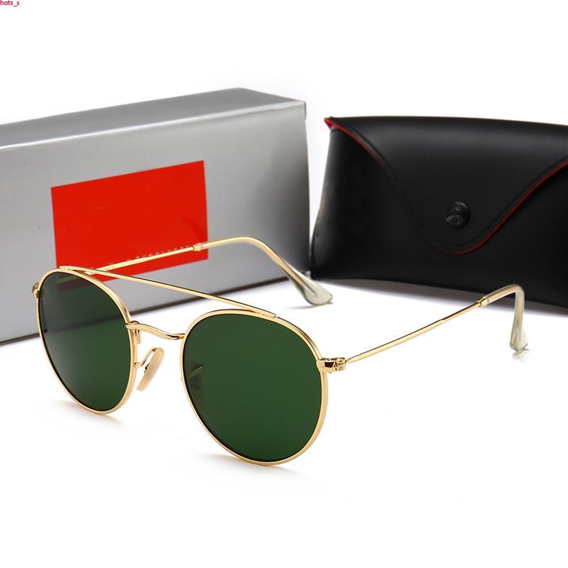 RayBan RB1806 occhiali da sole di disegno uomini di modo caldo MILLIONAIRE Sunglasses evidence retro annata estate lucido oro di qualità superiore del laser di stile