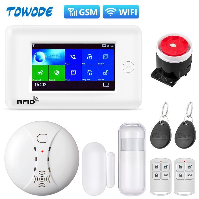 Сигнализация Towode PG106 Smart Home Security System 2G защита от угона система 4,3-дюймовый цветной экран APP Пульт дистанционного управления ИК-датчик движения