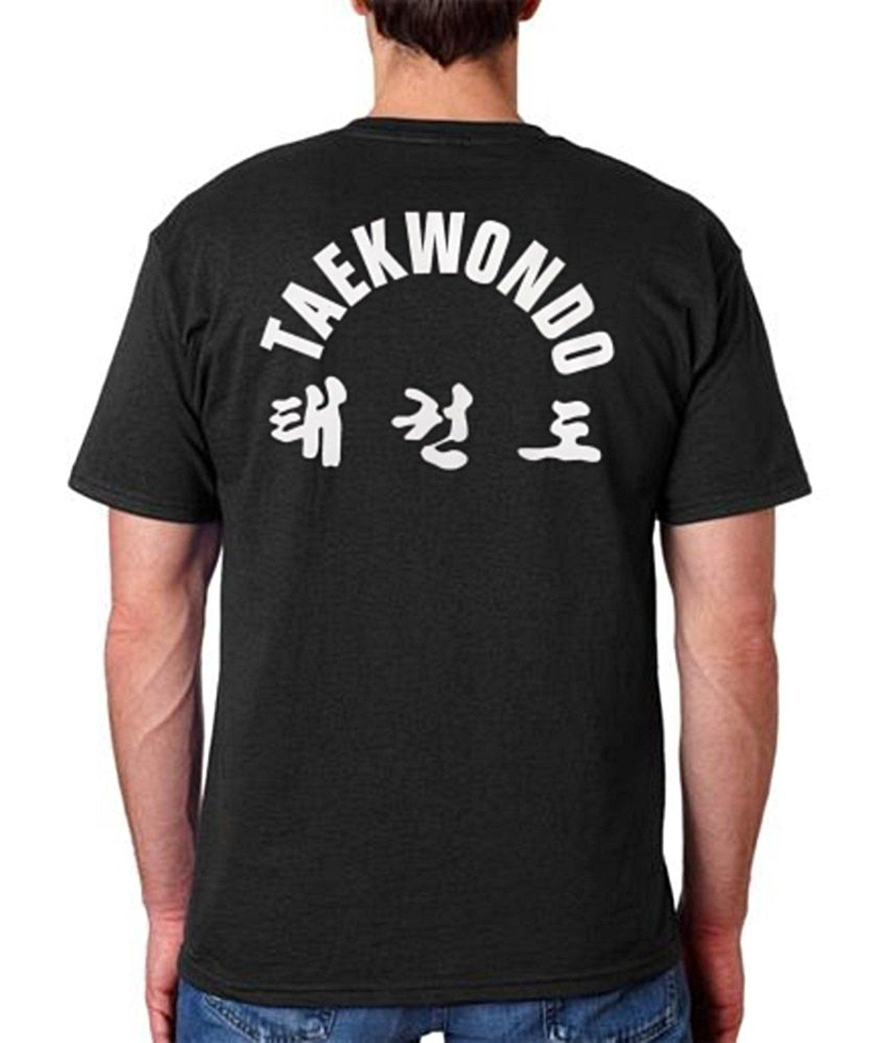2019 Hot Sale 100% Cotton Gbox Embroidery Tae Kwon Do T-shirt Adult Unisex in 65 Colors Upto 5xl Summer Tee Shirt