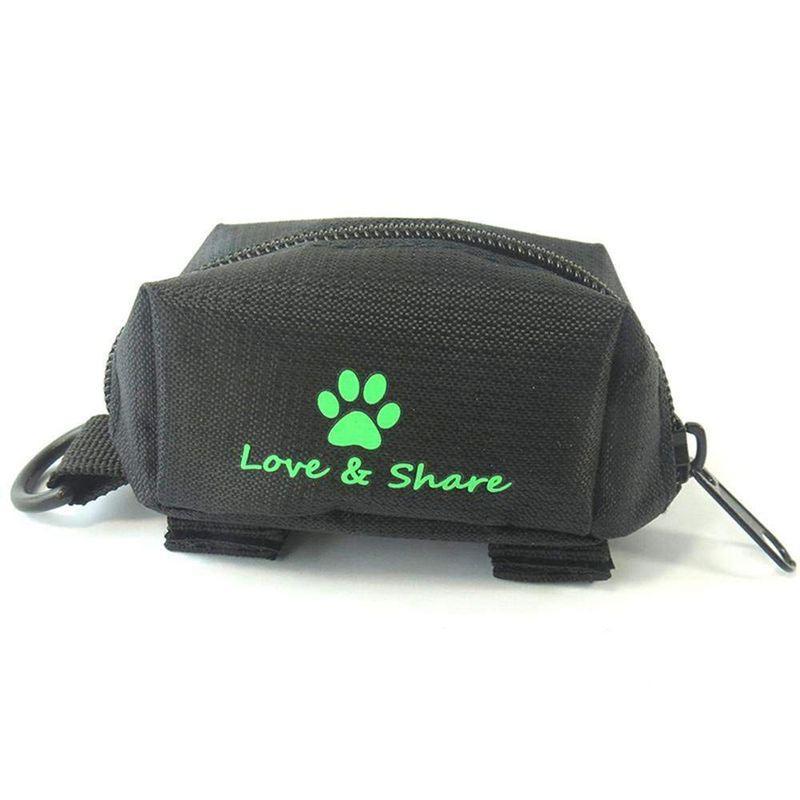똥 가방 디스펜서, 개 똥 가방 홀더 가죽 끈 첨부 - 걷기, 달리기 나 하이킹 액세서리 (블랙)
