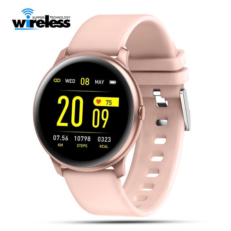 KW19 Smart Watchband Frauen Herzfrequenz Monitor Wasserdichte Armbänder Männer Sportuhren Fitness Tracker für Android-Telefone
