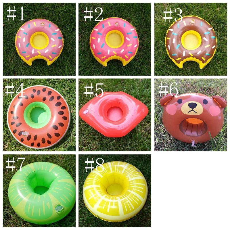 Donuts Pool Spielzeug Becherhalter Schwimmen aufblasbare cupholder Kinderschwimmgetränkebecherhalter-Strand Aufblasbare Getränk Becherhalter YYA101