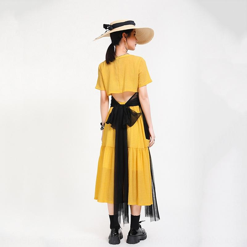 dMcsO jupe costume d'été 2020 gaze de contraste de deux pièces à la mode pour la couleur arc papillon design papillon féminin costume YPEsW