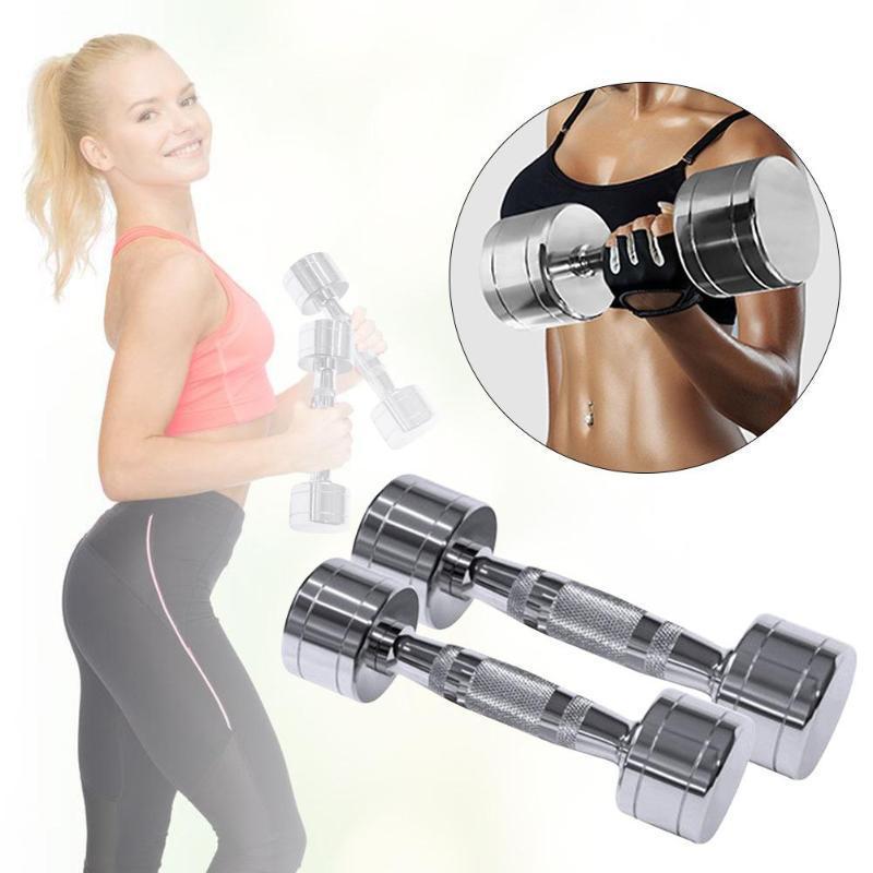 1 / 2KG بالكهرباء للياقة البدنية الدمبل الوزن [دومبلس الطلي الوزن البارات رياضة [دومبلس الحديد مجموعة الملاكمة للرجال كمال الأجسام