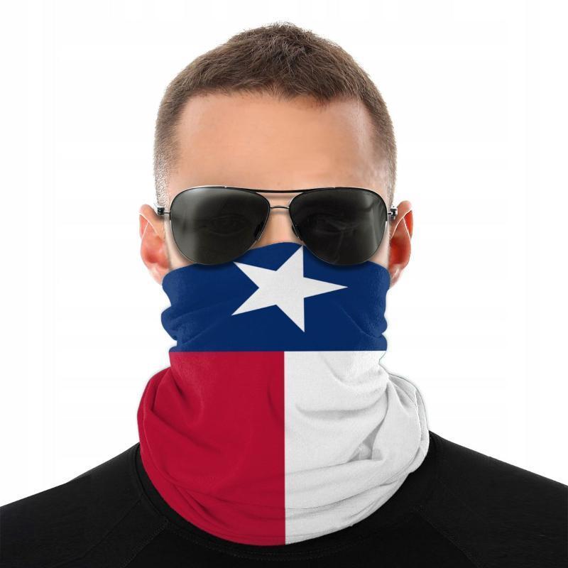 Texas Flag Magic Scarf Half Face Mask Unisex Fashion Neck Warmer Seamless Bandanas Dustproof Headband Outdoor Hiking