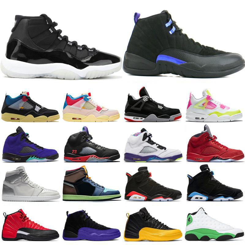 Nike Air Jordan Retro Max 25. Jumpman 11s Jahrestag 1s Hoch OG Basketball-Schuh-4s Top Trainer Männer 12s Union Album 5s Alternate Grape 13s 10s Sport Sneakers