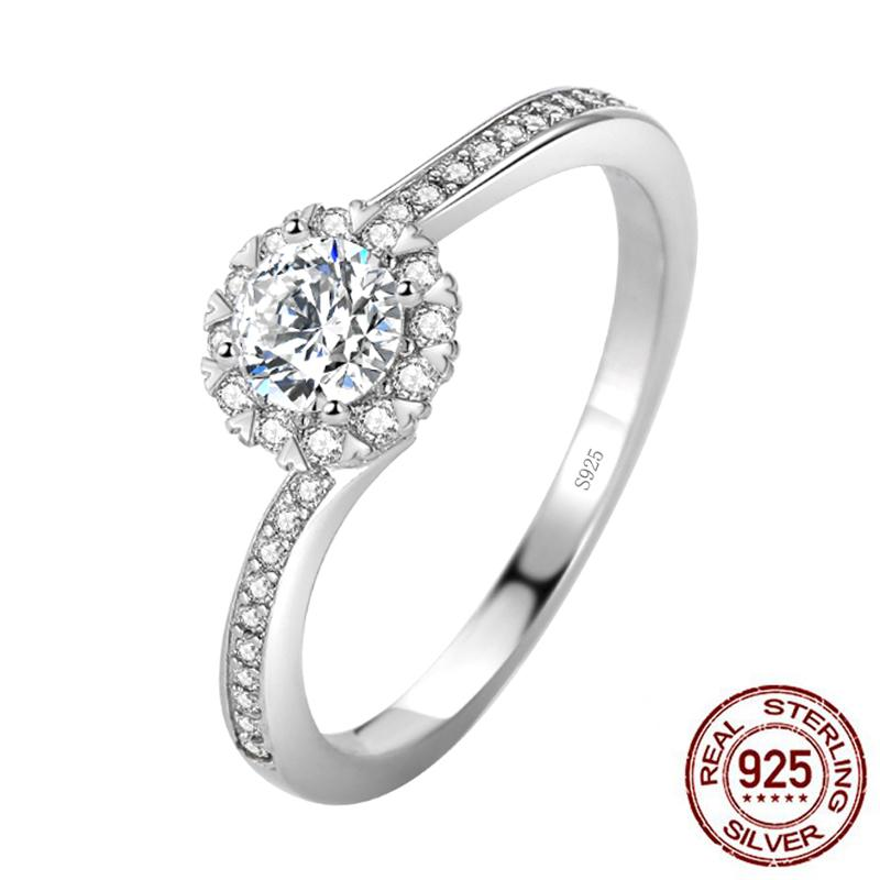 Best Selling Fashion 925 Sterling Silver Wedding Engagement Ring for Girl Lovers Love Party Gift Fine Jewelry XR455
