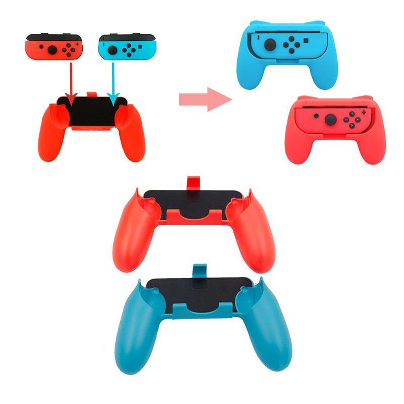 1pair Switch joystick Bracket contrller Hand Holder switch Joy-con handheld Handle Grips Kit for Switch Accessories