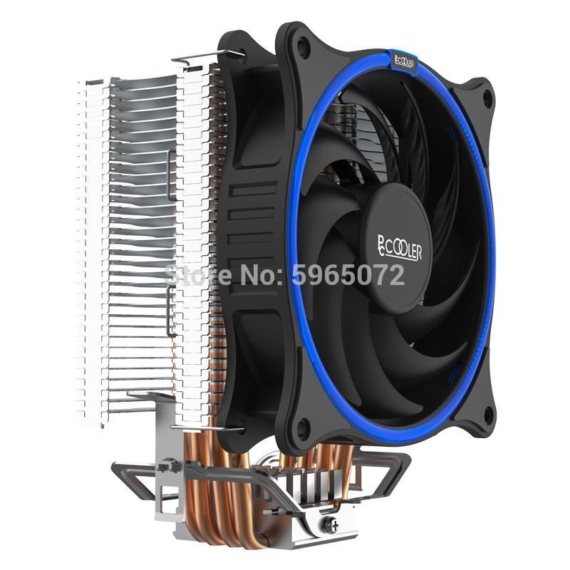 pccooler GI-UX4 ПК процессор Процессор кулер вентилятор 120мм охлаждения компонентов компьютера Радиатор радиатор для Intel LGA 775 / 115x AMD АМ4 / 3