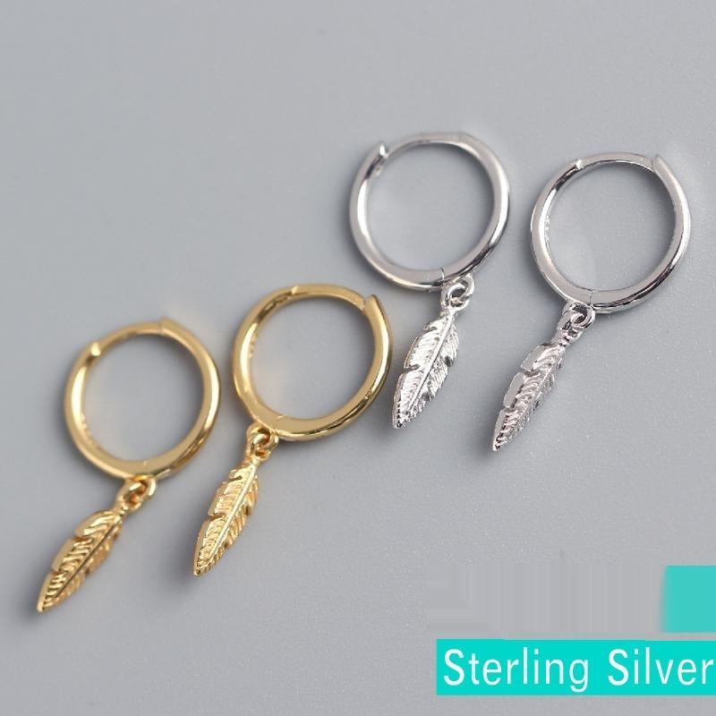 To0sd YHE0168 S925 стерлингов серьги и lightINS стиль перо все соответствует YHE0168 S925 стерлингового серебра кулон серьги и lightINS стиль п