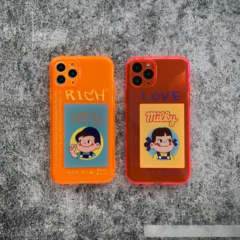 Cassa del telefono Promax fumetto coppia Iphonexs Silicone Case XR fluorescente 78plus Carino Se Femminile