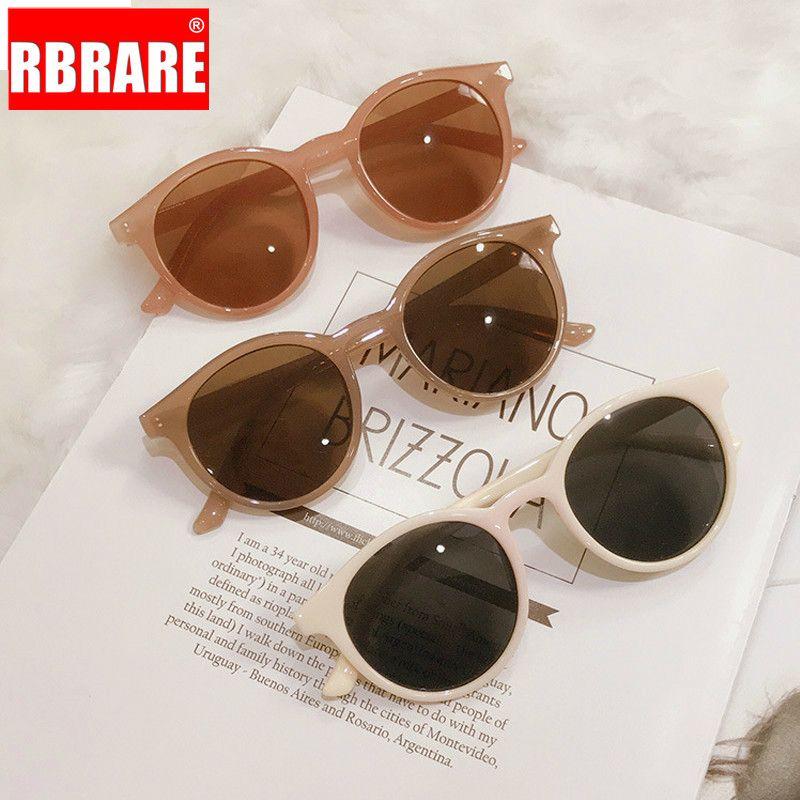 RBRARE Güzel Yuvarlak Güneş Kadınlar Retro Jelly Renk Gözlükler Ayna Vintage Shades Şık Bayanlar Sunglass Gafas De Sol Mujer