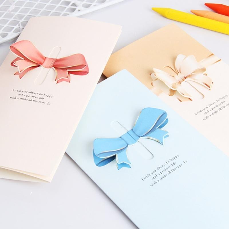 petite coréenne créative pour le blanc bénédiction carte postale mini-cadeau de remerciement carte de voeux