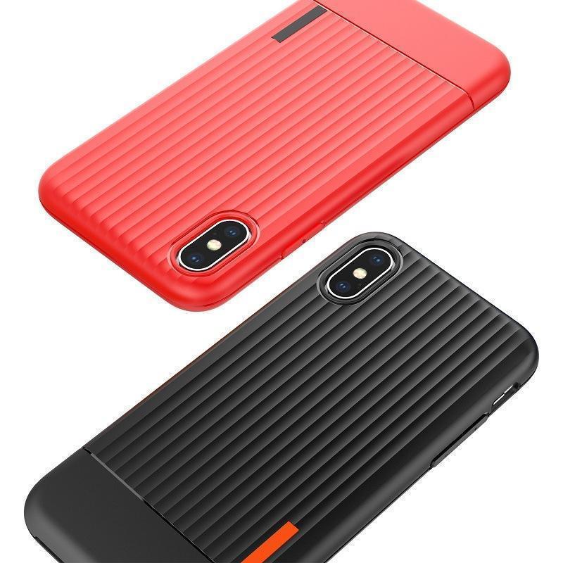 Mode Valise Tpu téléphone silicone pour Samsung Galaxy S8 S9 S9 plus de cas Valise de coffre Tpu + Pc couverture arrière pour Iphone X