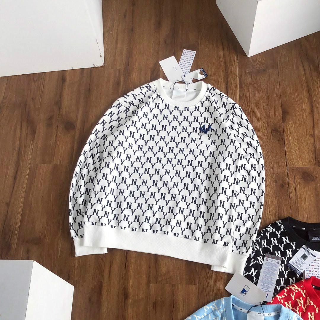 2020 automne et d'hiver nouveaux hommes chandail tissu de coton hip-hop col rond de mode pleine impression et broderie 4 couleurs pull couple en option