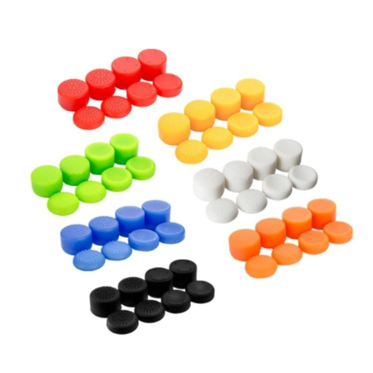 8pcs Silikon-Gummi-Daumengriff Thumbstick Abdeckungs-Fall-Haut-Joystick-Griff Griffe für PS4-Controller Joystick