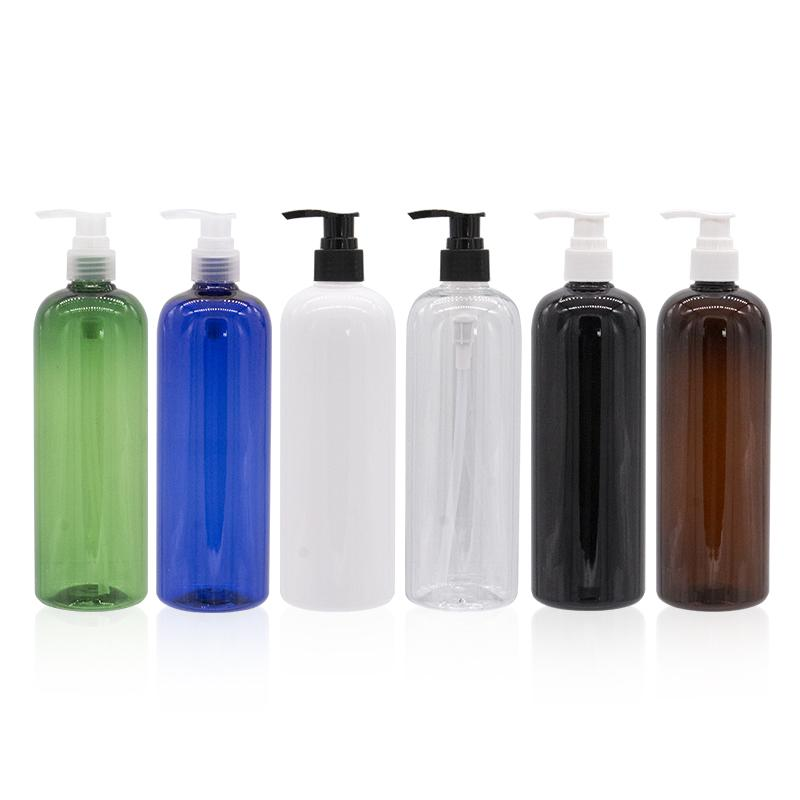 Bottiglie di stoccaggio Barattoli 500ml Pompa di lozione di plastica di alta qualità usata per la crema del corpo del sapone liquido crema del corpo del viso makeup Remover Bianco chiaro BLA