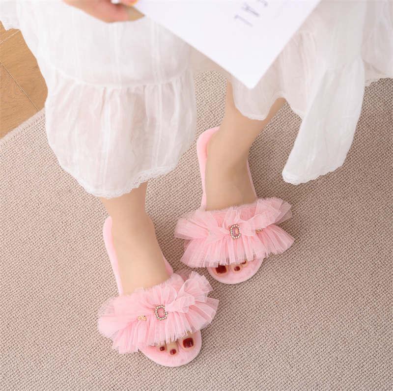 حلوة لطيف النساء النعال المنزل الشرائح السيدات الحمام عدم الانزلاق الصنادل أحذية الشتاء داخلي أورور فليب يتخبط الدافئة