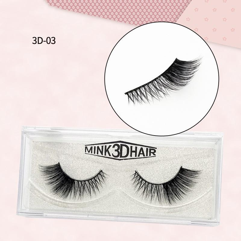2020 New 1pair 100% 3D Mink Lashes luxe fait main réutilisable Mink Lash Long Lasting Volume Lashes Extension Faux eyelashe