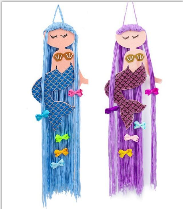 1 Stück Mermaid Haar beugt Speicherband für Mädchen-Haar-Clips Barrette Hair Hanging Organizer-Streifen-Halter für Haarschmuck
