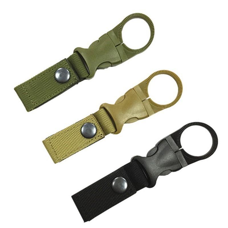 Outdoor militare tessitura di nylon fibbia Gancio Porta Bottiglia clip EDC Climb moschettone Cintura Zaino Hanger Campo CCA12533 100pcs