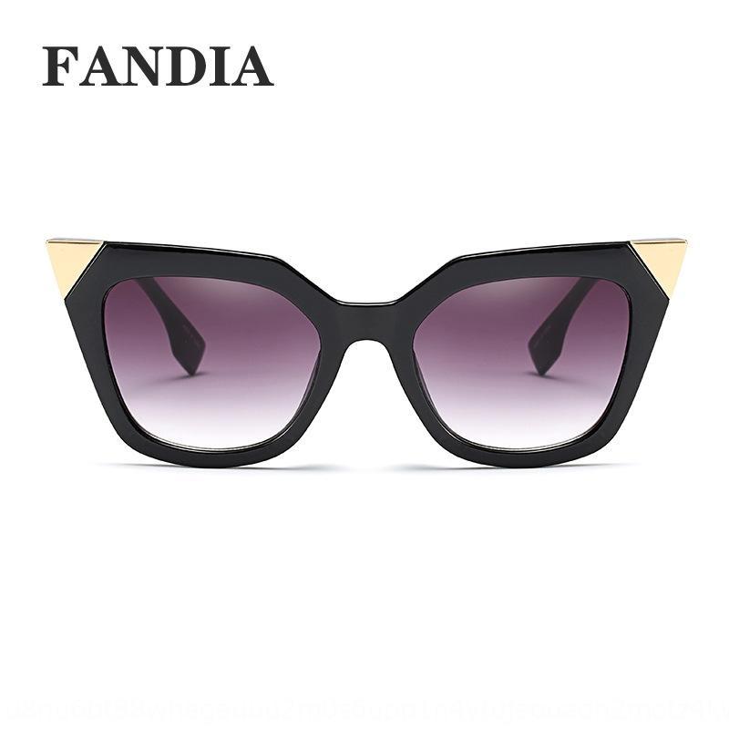 eQe8b 97153 новой мода остроконечного угла кошачьих глаза ВС солнцезащитных очков изогнуты ножные современный ночной клуб очки очки