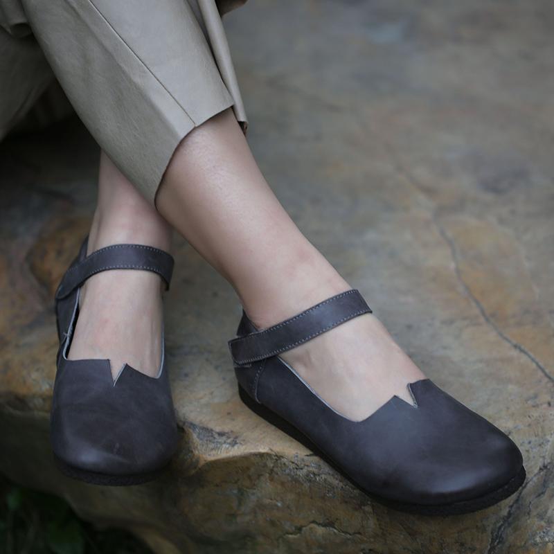 VALLU zapatos de las mujeres de cuero ocasionales 2020 de primavera y otoño zapatos de tacón bajo de cuero bajo-top