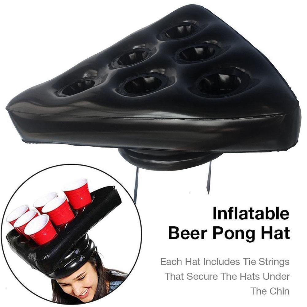 6 buche Cappelli gonfiabile galleggiante per fornitura di birra Bevande Cup Holder stand cappello del partito