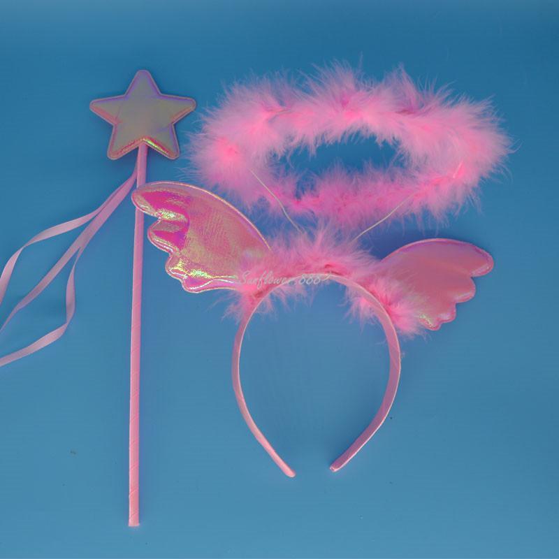 Angel Halo Head Head Волшебное Палочки Палочка партии Cosplay Хэллоуин рождественские повязки для женщин девушки волосы группы аксессуары для волос