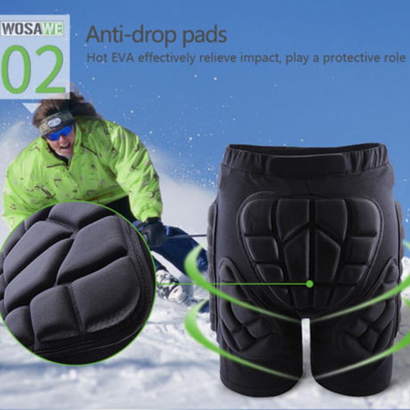Protective Shorts Knie Skating Hüftprotektoren Schwarz Durable Bewegung Pads Ski Racing Hip Impact Protection Im Freien