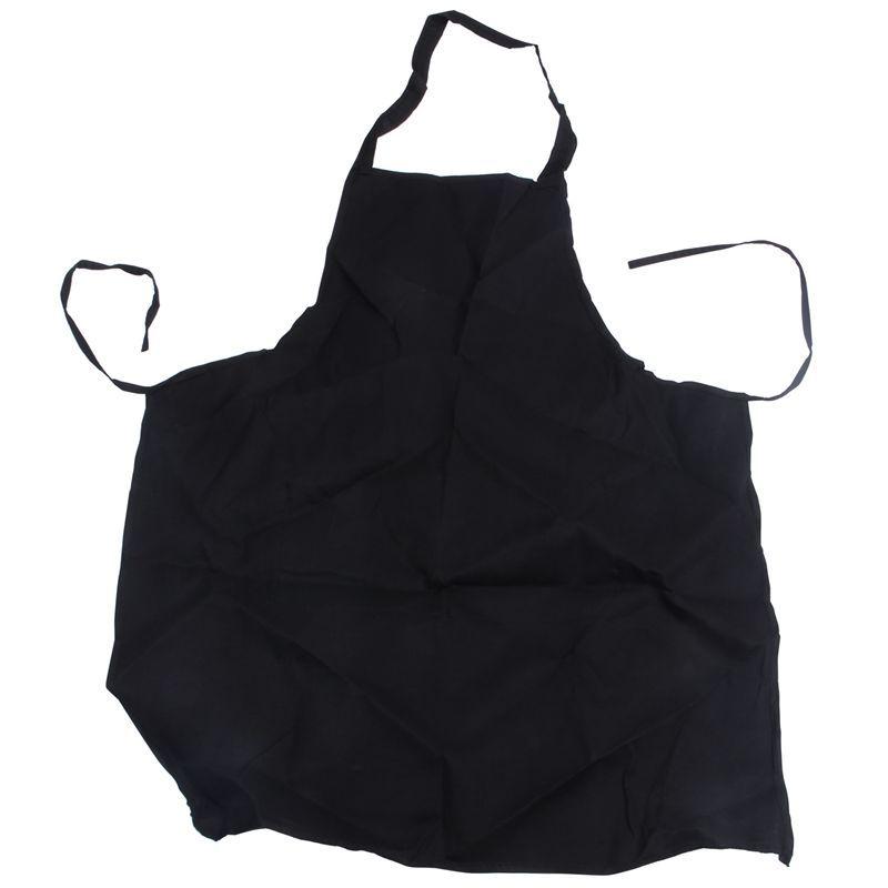 12 Pack avental Bib - Unisex Preto massa Avental com 2 espaçoso Pockets lavável a máquina para Kitchen Crafting Desenho BBQ
