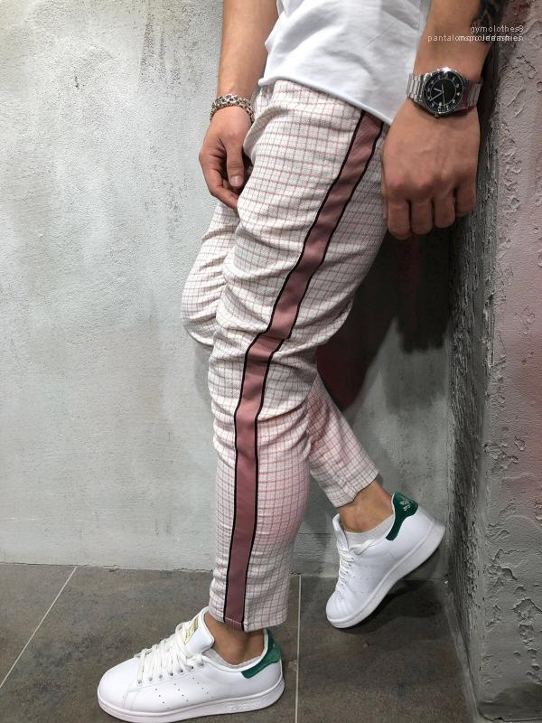 Kleidung frühling herbst pantalones herren plaids hosen gestreifte designerhose männer