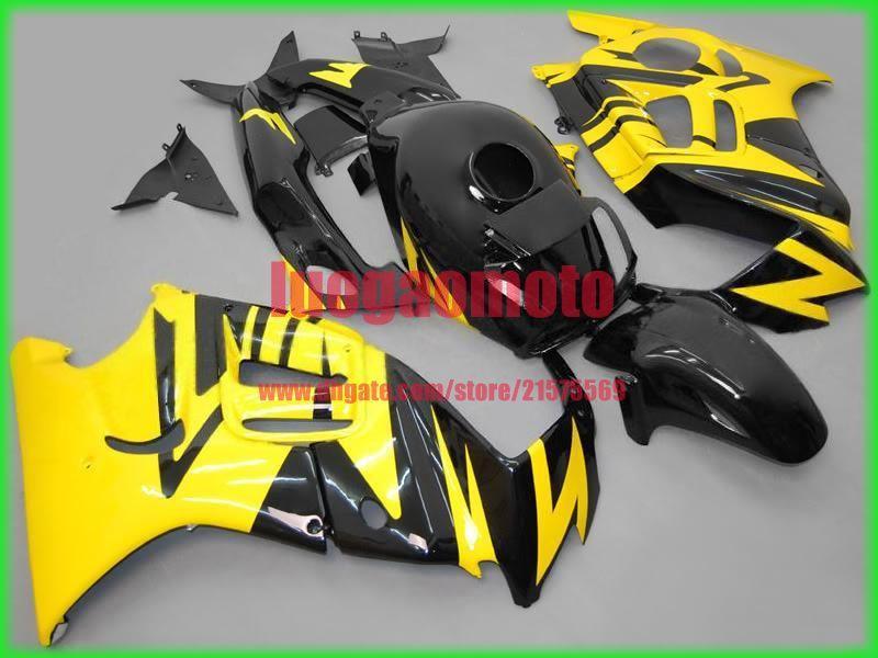 Carenature per Honda CBR600 giallo nero F3 1997 1998 CBR600 f3 Parti CBR600F3 97 98 CBR 600 F3 cofano Aftermarket Kit carena + regali
