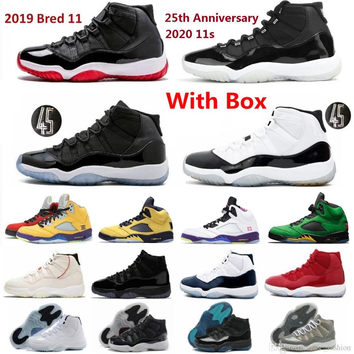 2021 Neueste 11s Basketballschuhe mit Kasten 11 Männer Schuh Jubiläumskappe und Kleid Cool Grey 72-10 Pantone Legend Blue Niedrig Win wie 96 Concords 13s