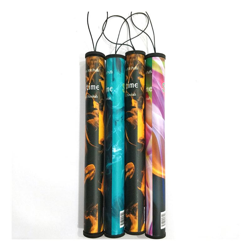 Shisha 시간 일회용 vape 전자 물 담뱃대 담배 20pcs / 플라스틱 튜브가있는 팩 미리 채워진시 샤 증기 키트 40 색